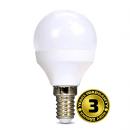 Solight LED žárovka, miniglobe, 6W, E14, 3000K, 450lm, bílá WZ416
