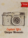 Mini album pre 100 fotiek 10x15 Camera 1 orange