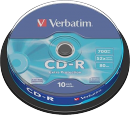 Verbatim CD-R 700MB 52x, spindle, 10ks