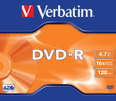 Verbatim DVD-R 4,7GB 16x, AZO, jewel, 1ks