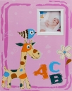 SAMOLEPÍCÍ album 40 stran ABC růžové šité