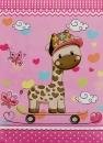 Mini album pre 100 fotiek 10x15 Zoo 2 růžové