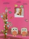 SAMOLEPÍCÍ album 40 stran Owlet  2 růžové