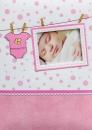 Fotoalbum 10x15 pre 300 fotografií Baby ružový