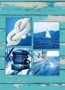 Fotoalbum 9x13 pro 200 fotek Wood modré