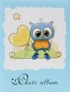 Mini album pre 100 fotiek 10x15 Owl modrý