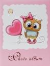 Mini album pre 100 fotiek 10x15 Owl ružový