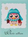 Mini album pro 100 fotek 10x15 Owl zelené