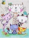 Mini album pro 100 fotek 10x15 Cats family