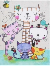 Mini album pre 100 fotiek 10x15 Cats family