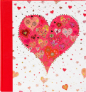 Klasické fotoalbum 60 stran  Big heart red