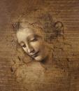 Hlava ženy 30x45cm - Leonardo da Vinci