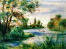 Břeh řeky 30x40 Pierre-Auguste Renoir.