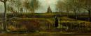 Farní zahrada v Neunenu na jaře 1884 -40x100cm Vincent van Gogh