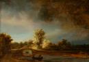 Krajina s kamenným mostem 35x50 cm - Rembrandt van Rijn