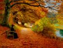 Podzimní cesta 50x65cm - Hans Andersen Brendekilde