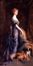 Portrét paní Sandysové 30x60cm - Philip Alexius de Laszlo