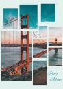 Fotoalbum 10x15 pre 200  fotiek Collage modré