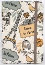 Zápisník Paris A6 gray