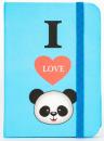 Zápisník Panda A7 blue