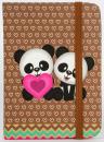 Zápisník Panda A7 brown