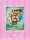 Mini album pre 100 fotiek 10x15 happy Teddy ružový