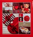 Klasické fotoalbum 60 stran Aryca Love červené