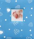 Album detské 100 stran Baby heart modrý