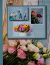 Album 10x15 pre 304 fotiek  Flower modrý