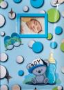 Album pre 200 fotiek 10x15 Baby Dots modrý