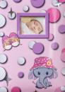 Album pre 200 fotiek 10x15 Baby Dots ružový