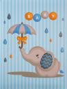 SAMOLEPÍCÍ album 40 stran Umbrella 1 modré