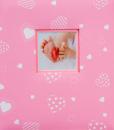 Album dětské 100 stran Baby heart růžové 2.jakost