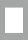 Pasparta 30x40 / 20x30 šedá granit