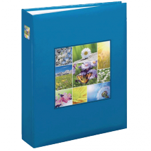 Fotoalbum 10x15 pre 200 fotiek Garden modré