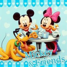 Album pre 200 fotiek 10x15 Disney Mickey modrý