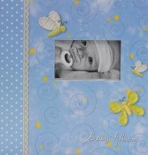 Album pre 200 fotiek 10x15 Tender modré