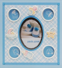 Album pre 200 fotiek 10x15 baby 19 modré