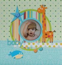 Album pre 200 fotiek 10x15 Little Star modrý