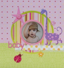 Album pre 200 fotiek 10x15 Little Star ružový