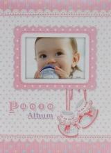 Fotoalbum 9x13 pre 100 fotiek  Baby 14 růžový