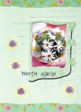Minialbum 9x13 pre 36 fotiek   Pastel Vase zelený