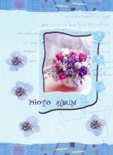 Minialbum 9x13 pre 36 fotiek   Pastel Vase modrý