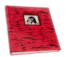 Klasické fotoalbum 60 strán SAFARI red