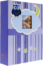 Album detské 10x15 pre 200 fotiek lepené OWL modré