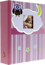 Album detské 10x15 pre 200 fotiek lepené OWL ružové