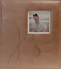 Svadobné fotoalbum 60 strán Flower hnedé