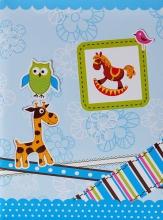 Mini album pre 100 fotiek 10x15 Giraffe modrý