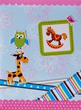 Mini album pre 100 fotiek 10x15 Giraffe ružový