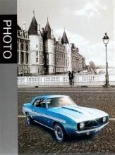 Mini album pre 100 fotiek 10x15 Old cars modrý